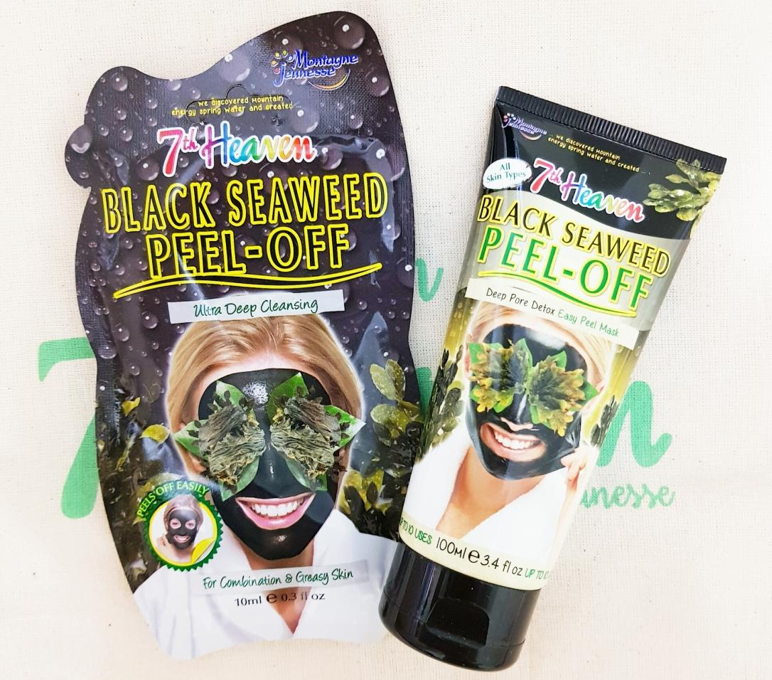 Black Seaweed Pell-Off Mask 7th heaven  Masca de față peel-off cu alge marine brune