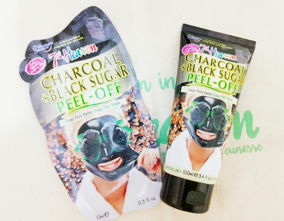 Charcoal + Black Sugar Peel-Off Mask 7th heaven