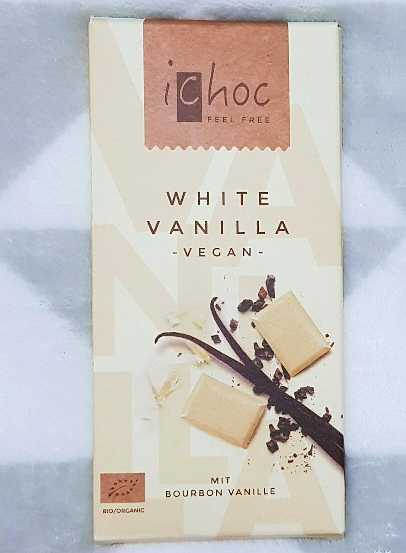 ICHOC - ciocolată albă cu vanilie, 80g - produs vegan, certificat ecologic
