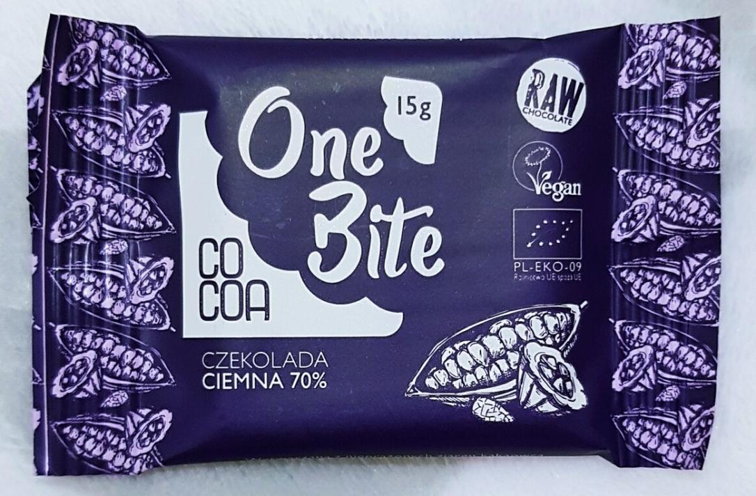 Cacao Cocoa vegan one bite ciocolată