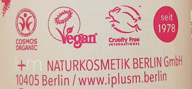 I+m Naturkosmetik Berlin vegan cruelty-free cosmos organic narah seit 1978