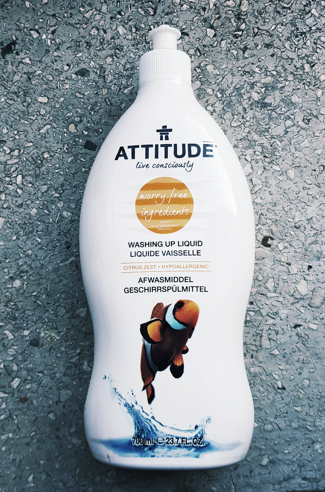 Detergent lichid pentru vase cu coajă de citrice  Attitude vegan Cruelty-free ecologo