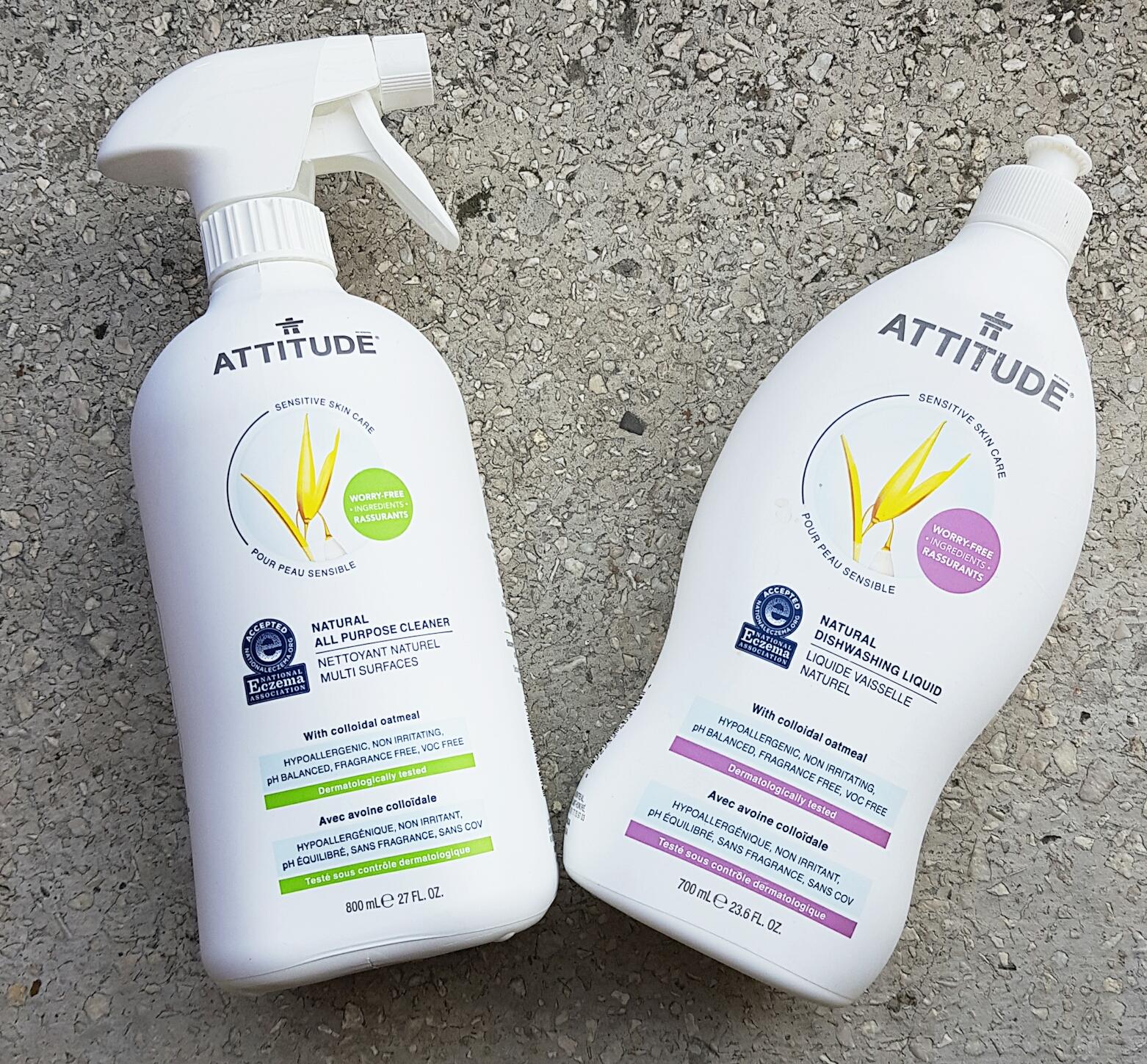 Gama Attitude Sensitive Skin - soluție universală și detergent lichid pentru vase Attitude vegan Cruelty-free ecologo