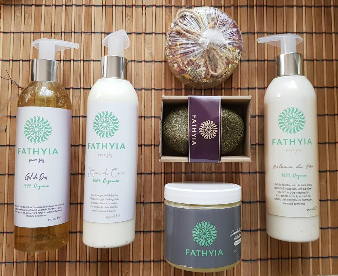 Fathyia vegan cruelty-free organic natural șampon gel de duș balsam pentru păr loțiune de corp turtiță de baie scrub de corp