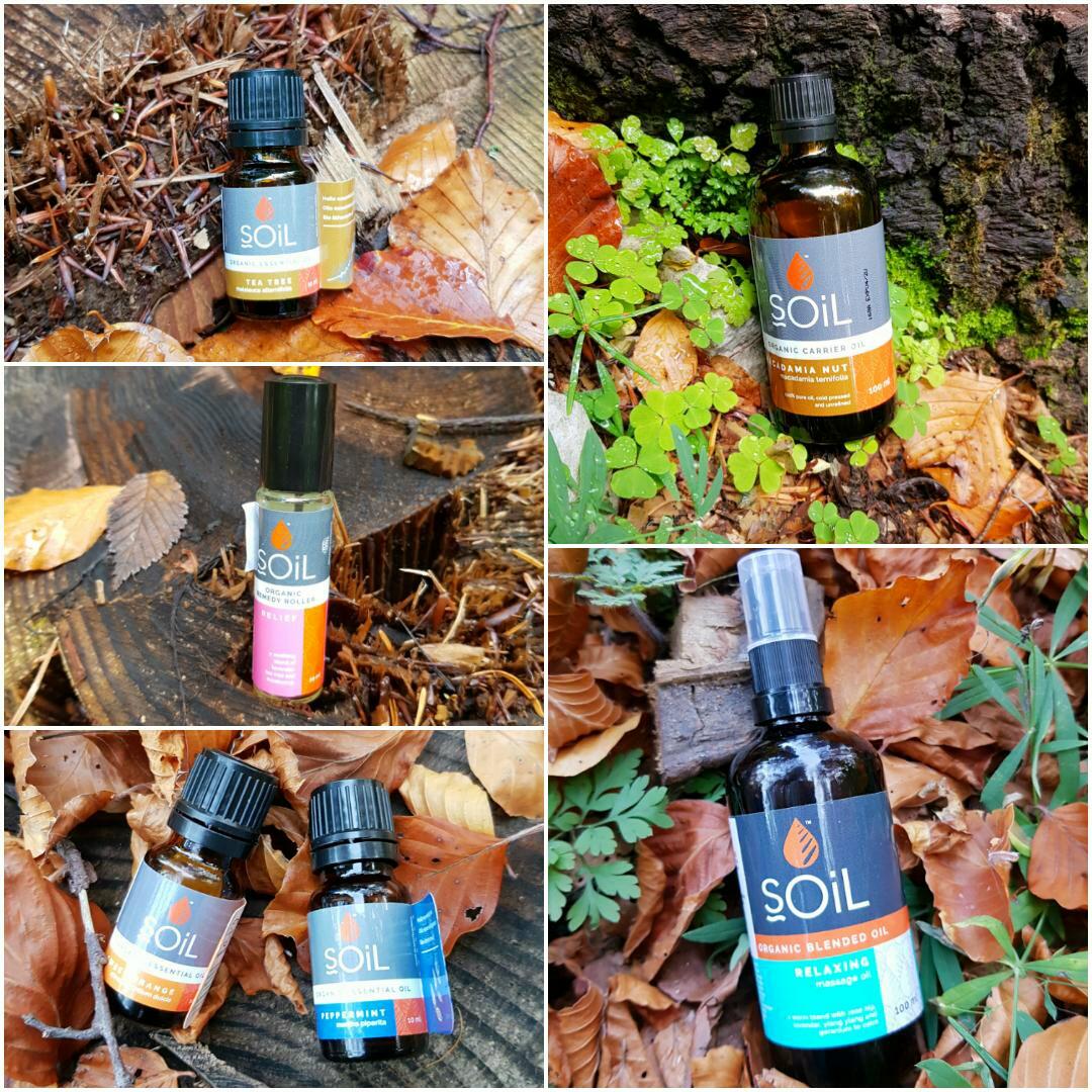 SOiL - Uleiuri esențiale, organice, pentru aromaterapie, masaj și relaxare  menta portocale tea tree roll-on relief masaj macadamia