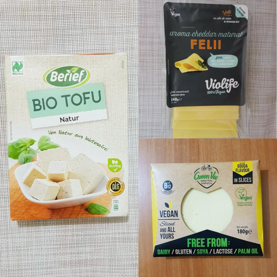 Tofletă scrambled tofu omleta din tofu vegan berief violife greenvie