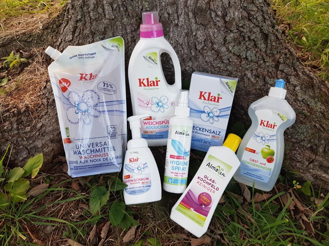 Detergenti si solutii pentru rufe aragaz legume și fructe spray igienizant săpun de tip spumă nuci de săpun înălbitori precarbonat de sodiu vegan cruelty-free AlmaWin Klar