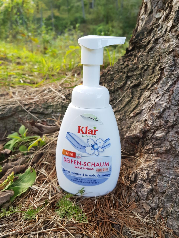 Klar săpun spumă nuci de săpun vegan și cruelty-free fără parfum