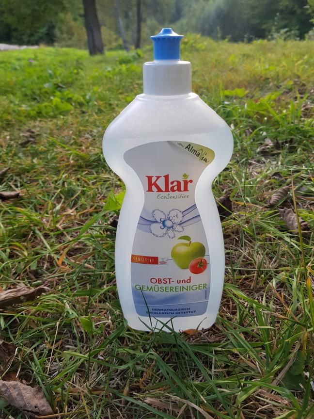 Klar soluție pentru spălat fructele și legumele vegan și cruelty-free fără parfum