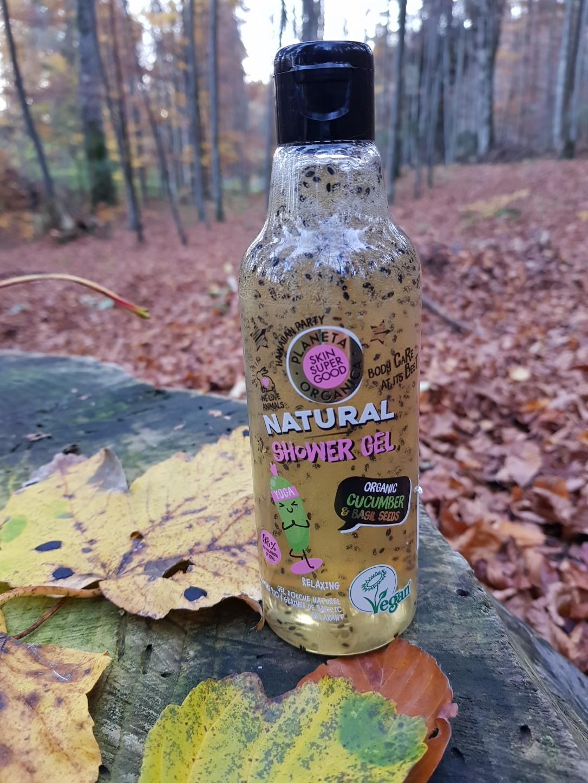 Planeta Organica geluri de duș loțiuni de corp scruburi exfoliante vegan cruelty-free Cucumber and Basil Seeds